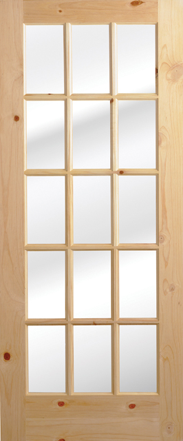 Knotty Pine Interior French Doors 266 x 640